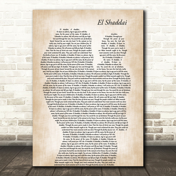 Amy Grant El Shaddai Mother & Baby Song Lyric Music Art Print