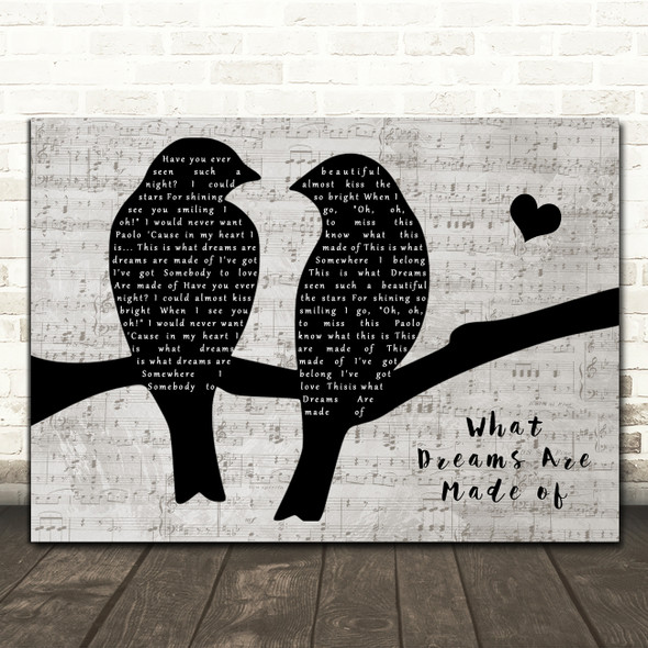 Paolo And Isabella What Dreams Are Made Lovebirds Music Script Song Lyric Music Art Print