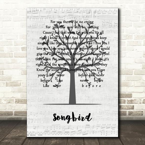 Eva Cassidy Songbird Music Script Tree Song Lyric Music Art Print
