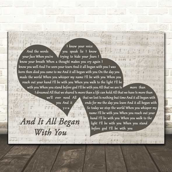Gary Numan And It All Began with You Landscape Music Script Two Hearts Song Lyric Music Art Print