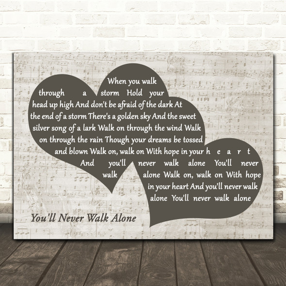 Gerry And The Pacemakers You'll Never Walk Alone Landscape Music Script Two Hearts Song Lyric Music Art Print