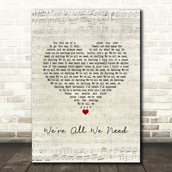 Above & Beyond feat. Zoë Johnston We're All We Need Script Heart Song Lyric Music Art Print