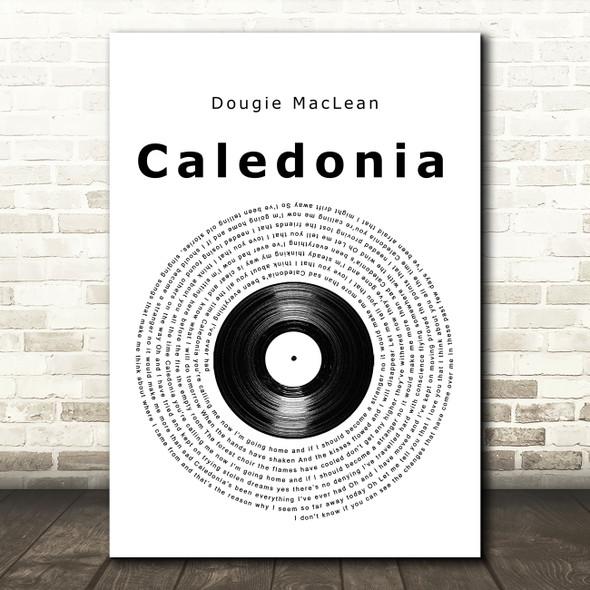 Dougie MacLean Caledonia Vinyl Record Song Lyric Music Art Print
