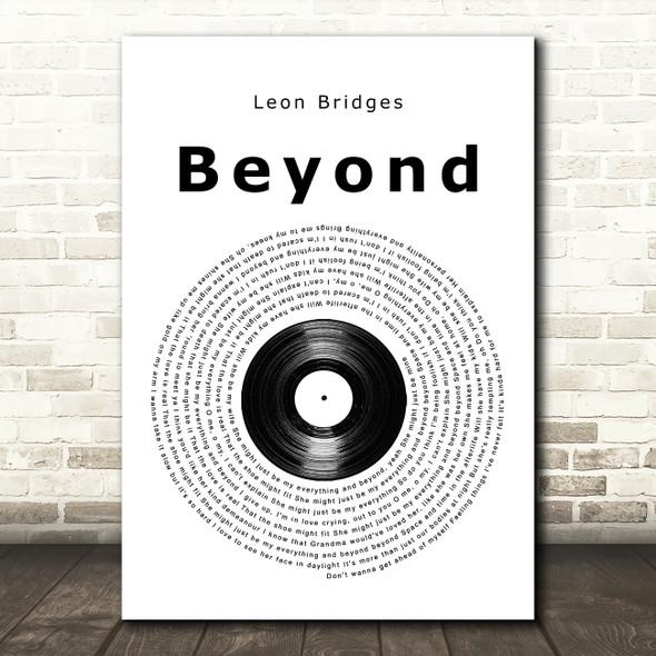 Leon Bridges Beyond Vinyl Record Song Lyric Music Art Print