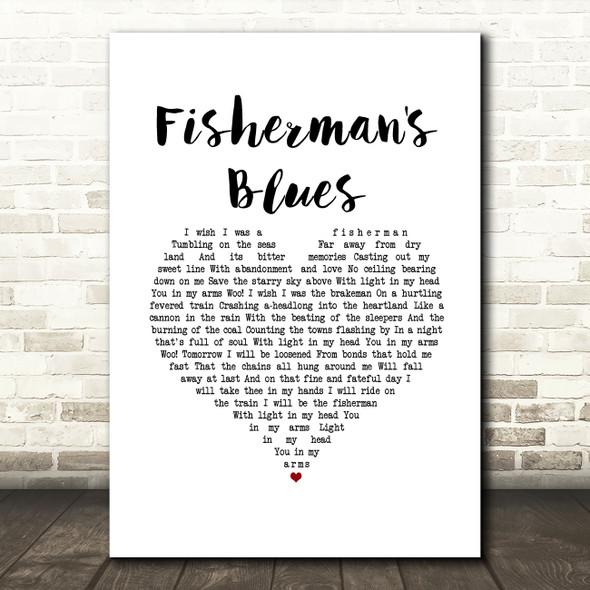 The Waterboys Fisherman's Blues White Heart Song Lyric Music Art Print