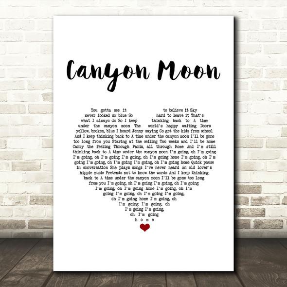 Harry Styles Canyon Moon White Heart Song Lyric Music Art Print