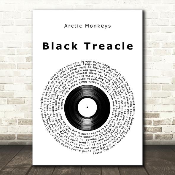 Arctic Monkeys Black Treacle Vinyl Record Song Lyric Art Print
