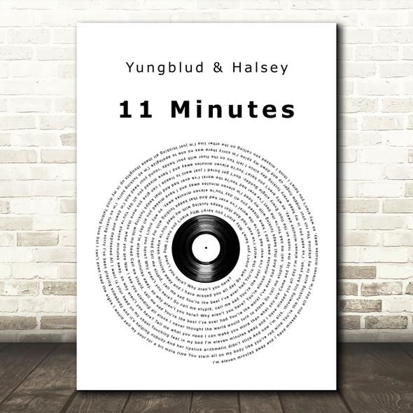 Yungblud & Halsey 11 Minutes Vinyl Record Song Lyric Art Print