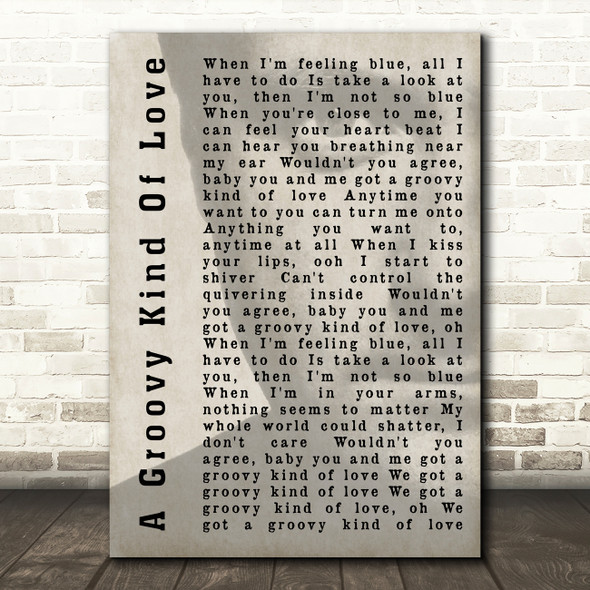 Phil Collins A Groovy Kind Of Love Shadow Song Lyric Quote Print