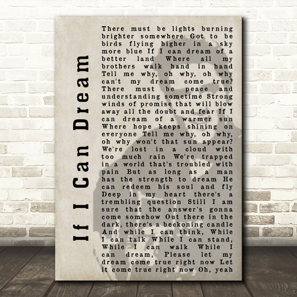 Elvis Presley If I Can Dream Face Shadow Song Lyric Quote Print