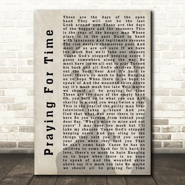 George Michael Praying For Time Shadow Song Lyric Quote Print
