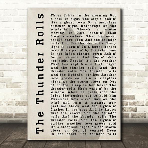 Garth Brooks The Thunder Rolls Shadow Song Lyric Quote Print