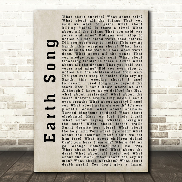 Michael Jackson Earth Song Shadow Song Lyric Quote Print