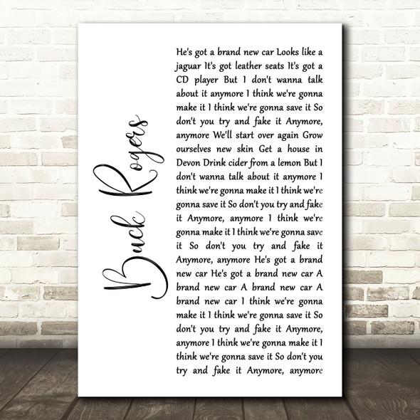 Feeder Buck Rogers White Script Song Lyric Art Print