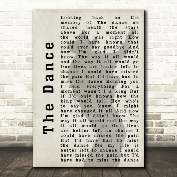 Garth Brooks The Dance Shadow Song Lyric Quote Print