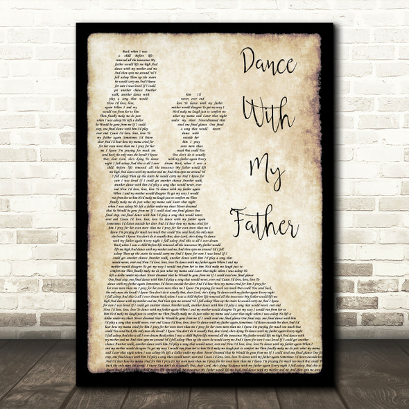 Luther Vandross Dance With My Father Man Lady Dancing Song Lyric Quote Print