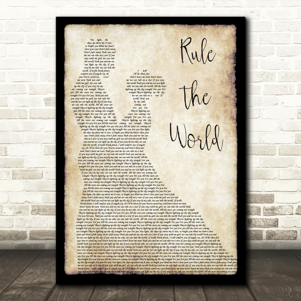 Take That Rule The World Man Lady Dancing Song Lyric Quote Print