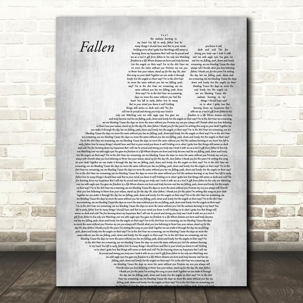 Volbeat Fallen Father & Baby Grey Song Lyric Art Print
