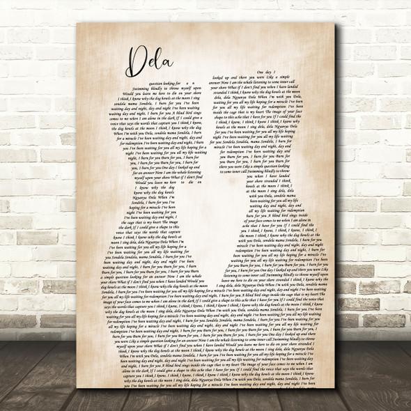 Johnny Clegg Dela Two Men Gay Couple Wedding Song Lyric Art Print