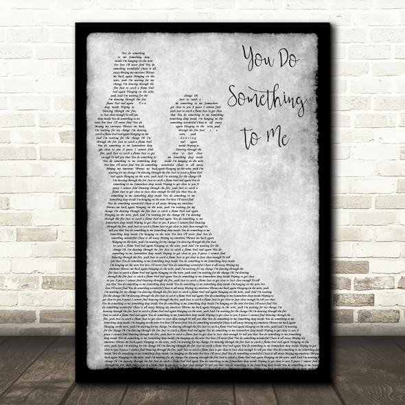 Paul Weller You Do Something To Me Grey Man Lady Dancing Song Lyric Art Print