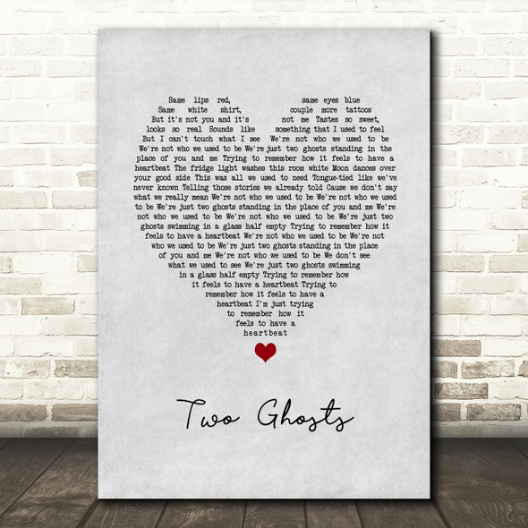 Harry Styles Two Ghosts Grey Heart Song Lyric Art Print