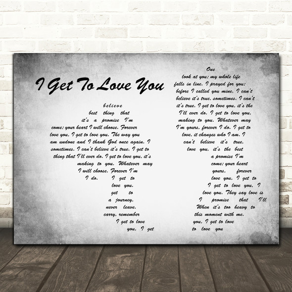 Ruelle I Get To Love You Man Lady Couple Grey Song Lyric Art Print