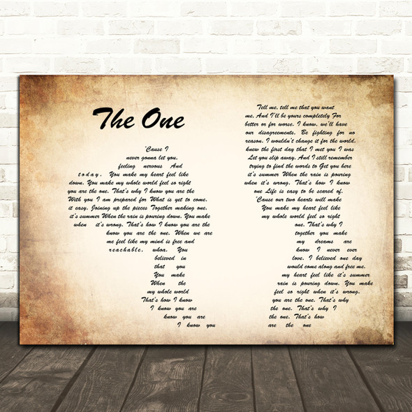 Kodaline The One Man Lady Couple Song Lyric Quote Print