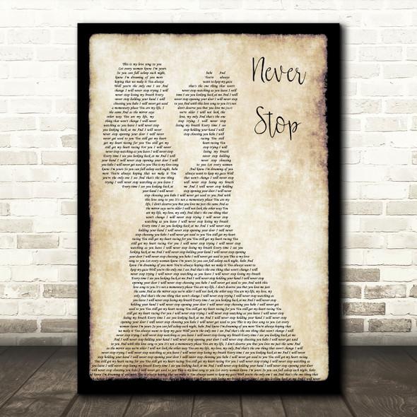 SafetySuit Never Stop (Wedding Version) Lesbian Couple Two Ladies Dancing Song Lyric Art Print