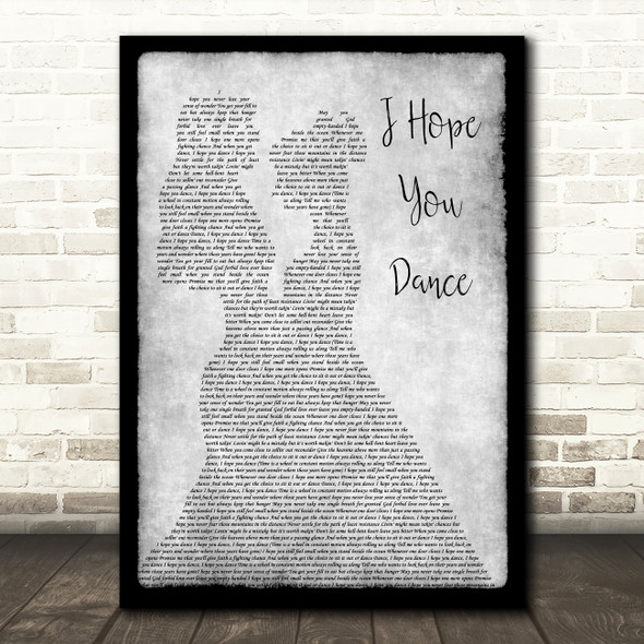 Lee Ann Womack I Hope You Dance Lesbian Couple Two Ladies Dancing Grey Song Lyric Art Print