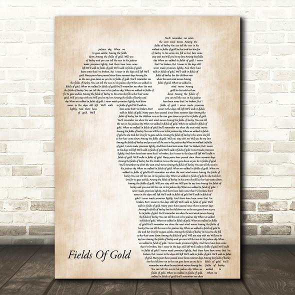 Eva Cassidy Fields Of Gold Mother & Child Song Lyric Art Print