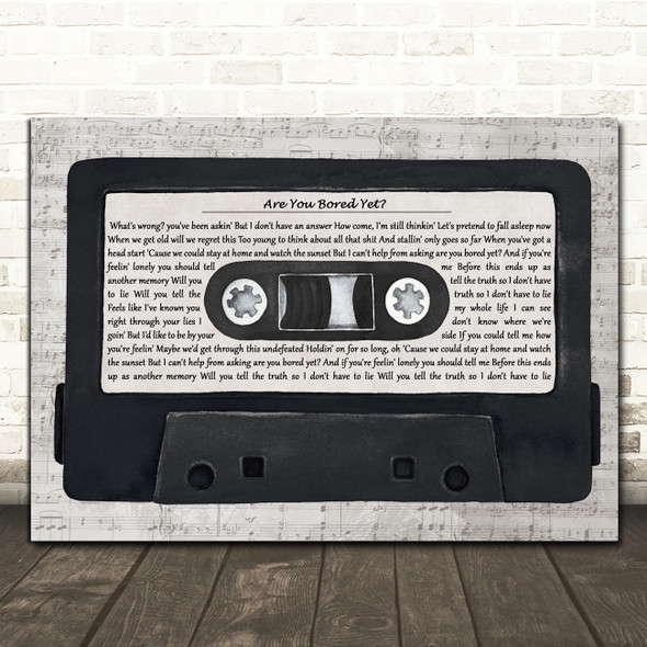 Wallows Are You Bored Yet Music Script Cassette Tape Song Lyric Art Print