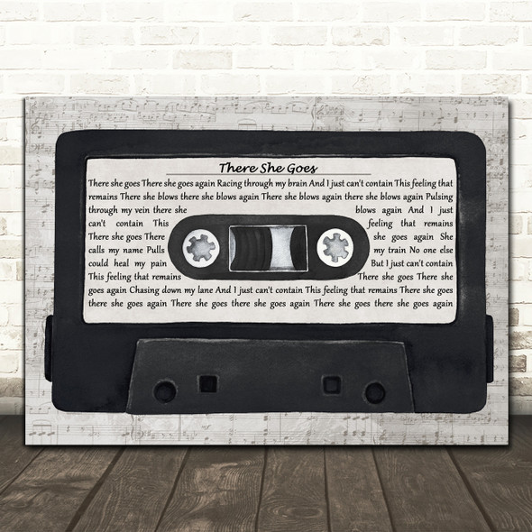 The La's There She Goes Music Script Cassette Tape Song Lyric Art Print