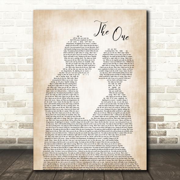 Kodaline The One Man Lady Bride Groom Wedding Song Lyric Quote Print