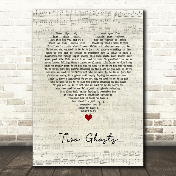 Harry Styles Two Ghosts Script Heart Song Lyric Art Print