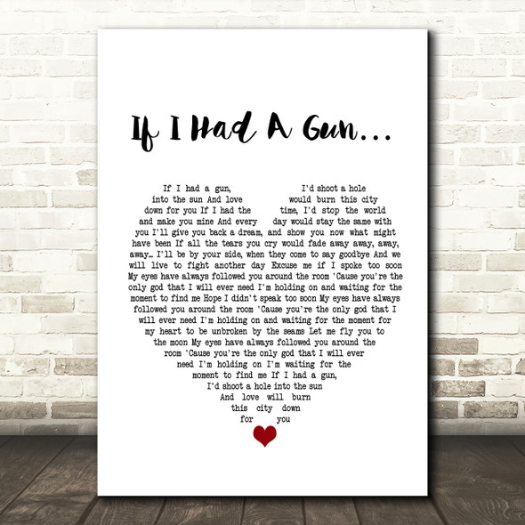 Noel Gallagher If I Had A Gun?à Heart Song Lyric Quote Print