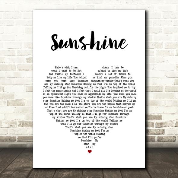 Gabrielle Sunshine Heart Song Lyric Quote Print