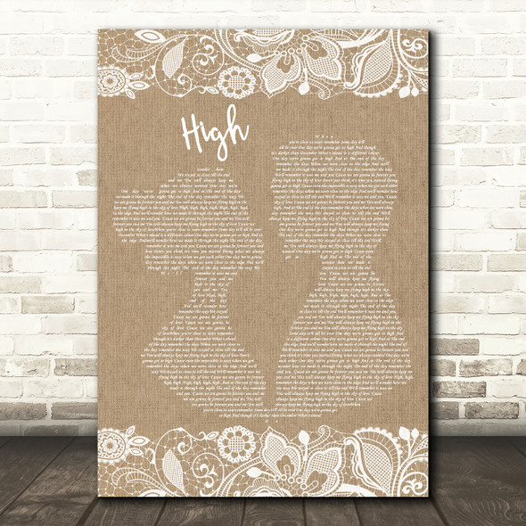 Lighthouse Family High Burlap & Lace Song Lyric Quote Print