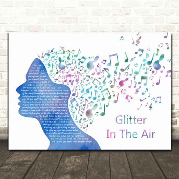 Pink Glitter In The Air Colourful Music Note Hair Decorative Gift Song Lyric Print