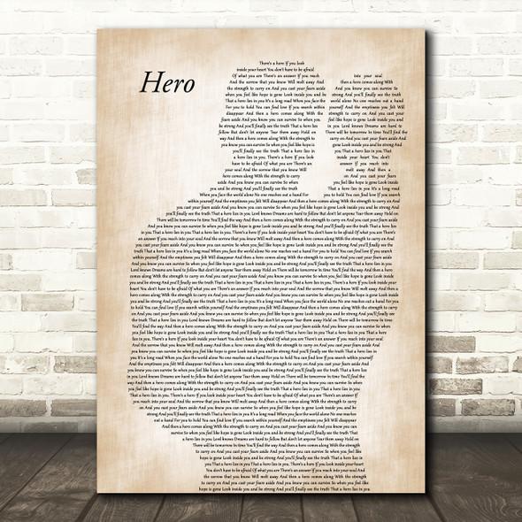 Mariah Carey Hero Father & Baby Decorative Wall Art Gift Song Lyric Print