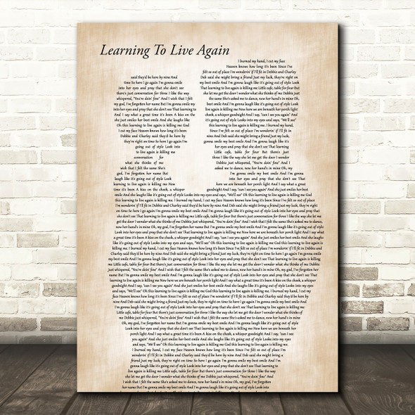 Garth Brooks Learning To Live Again Father & Child Decorative Wall Art Gift Song Lyric Print