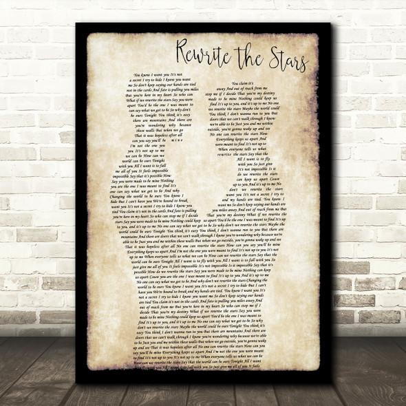 Zac Efron, Zendaya - GREATEST SHOWMAN Rewrite the Stars Gay Couple Two Men Dancing Song Lyric Print