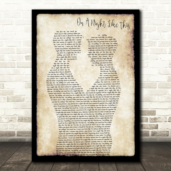 Kylie Minogue On A Night Like This Gay Couple Two Men Dancing Song Lyric Print