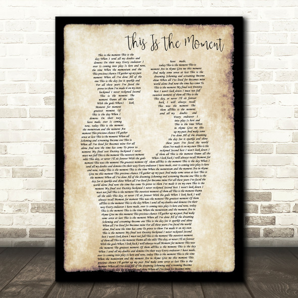Anthony Warlow This Is The Moment Gay Couple Two Men Dancing Song Lyric Print