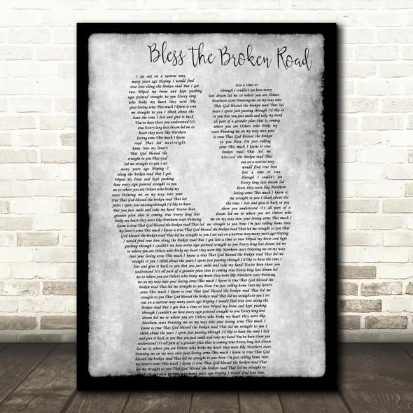 Rascal Flatts Bless The Broken Road Gay Couple Two Men Dancing Grey Wall Art Gift Song Lyric Print