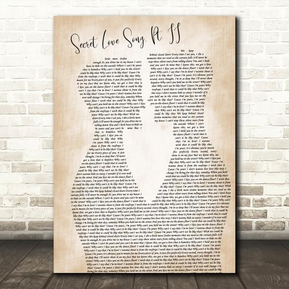 Little Mix Secret Love Song, Pt. II Two Men Gay Couple Wedding Wall Art Song Lyric Print