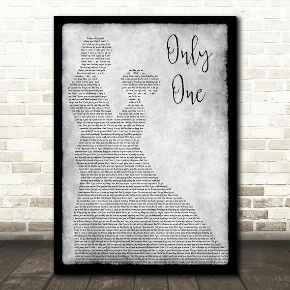Yellowcard Only One Grey Man Lady Dancing Decorative Wall Art Gift Song Lyric Print