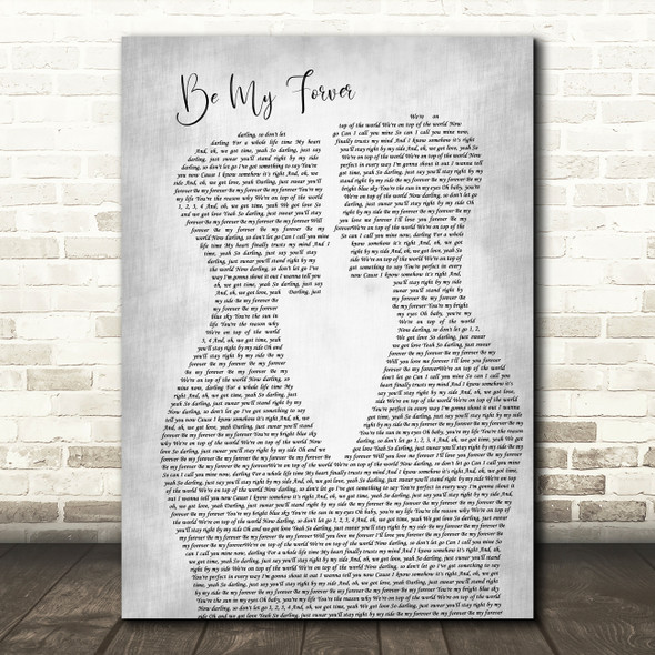 Christina Perri feat. Ed Sheeran Be My Forever Two Men Gay Couple Wedding Grey Song Lyric Print