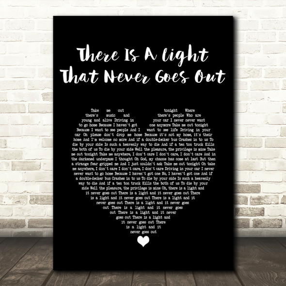 The Smiths There Is A Light That Never Goes Out Black Heart Song Lyric Print