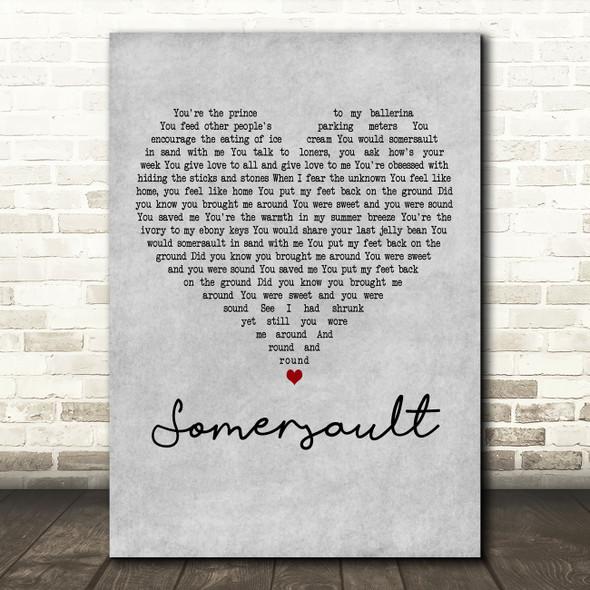 Zero 7 Somersault Grey Heart Decorative Wall Art Gift Song Lyric Print
