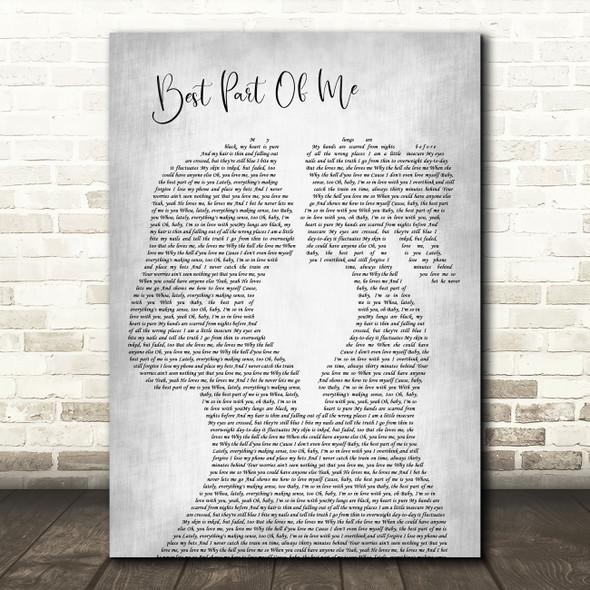 Ed Sheeran Best Part Of Me Lesbian Women Gay Brides Couple Wedding Grey Song Lyric Print